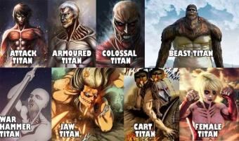 Attack On Titan: 9-те титана, класирани от най-слабите до най-мощните